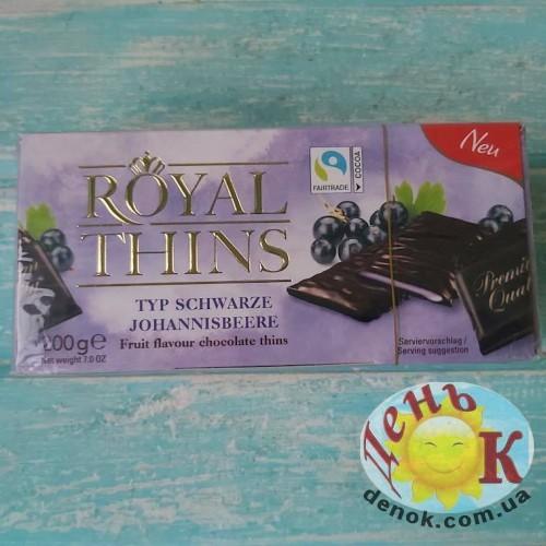 Шоколадные пластины с фруктовым пралине смородина Royal Thins 200 г купить в Киеве